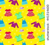 seamless pattern with girl... | Shutterstock .eps vector #441514600