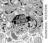 cartoon cute doodles hand drawn ... | Shutterstock .eps vector #441519346