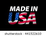 made in the usa logo art | Shutterstock . vector #441522610