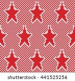 star fairisle seamless knitting ...   Shutterstock .eps vector #441525256