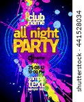 fresh blue all night party... | Shutterstock .eps vector #441528034