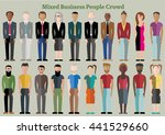 twenty mixed neutral flat... | Shutterstock .eps vector #441529660