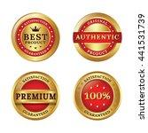 a set of premium badge | Shutterstock .eps vector #441531739
