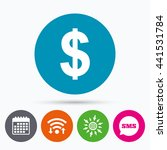 wifi  sms and calendar icons.... | Shutterstock . vector #441531784