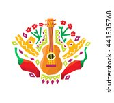 chili pepper  guitar and... | Shutterstock .eps vector #441535768