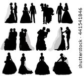 vector   isolated  silhouette   ... | Shutterstock .eps vector #441541846