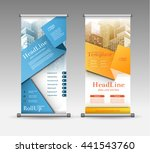 roll up banner abstract... | Shutterstock .eps vector #441543760