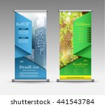 roll up banner abstract... | Shutterstock .eps vector #441543784
