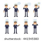 Set Of Airline Pilot Characters ...