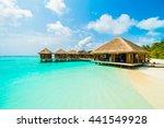 beautiful tropical beach and...   Shutterstock . vector #441549928