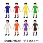 set of soccer player in... | Shutterstock .eps vector #441556474