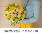 Girl Holding Bouquet Of The...