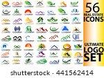 real estate logo set | Shutterstock .eps vector #441562414