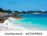 Small photo of ST.GEORGEâ??S, BERMUDA, MAY 27 - Peaceful secluded beaches all along the North shore near St. Georgeâ??s Island on May 27 2016 in Bermuda..