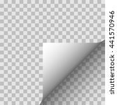 paper angle on a transparent... | Shutterstock .eps vector #441570946