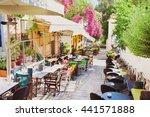 charming street in the old...   Shutterstock . vector #441571888