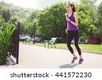 starting running beautiful... | Shutterstock . vector #441572230