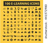learning icons | Shutterstock .eps vector #441572980