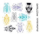 handmade liner drawing of... | Shutterstock . vector #441576640