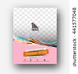 shopping center store flyer  ... | Shutterstock .eps vector #441577048