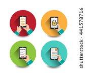 application on mobile... | Shutterstock .eps vector #441578716