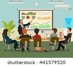 meeting marketing. vector.... | Shutterstock .eps vector #441579520