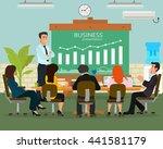 speaker giving presentation... | Shutterstock .eps vector #441581179