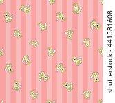 welcome baby girl decorative... | Shutterstock .eps vector #441581608