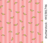 welcome baby girl decorative... | Shutterstock .eps vector #441581746