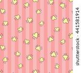 welcome baby girl decorative... | Shutterstock .eps vector #441581914