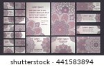 vector visiting card set... | Shutterstock .eps vector #441583894