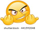 emoticon inviting to fight.... | Shutterstock .eps vector #441592048