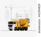 vector construction site mixer... | Shutterstock .eps vector #441594829