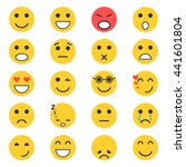 set of emoticons. set of emoji. ... | Shutterstock .eps vector #441601804