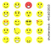 set of emoticons. set of emoji. ... | Shutterstock .eps vector #441601810