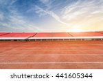Running Track And Bleachers At...