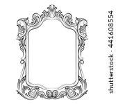 baroque rococo mirror frame... | Shutterstock .eps vector #441608554