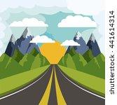 road landscape design  | Shutterstock .eps vector #441614314