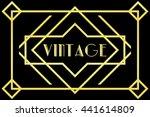 vintage art deco background... | Shutterstock . vector #441614809