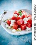 watermelon feta salad | Shutterstock . vector #441620500