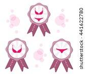 pink lingerie set. | Shutterstock .eps vector #441622780