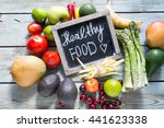 variety of vegetables and... | Shutterstock . vector #441623338