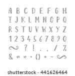 handwritten bold silver font...   Shutterstock .eps vector #441626464