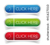 click here button set | Shutterstock .eps vector #441627010