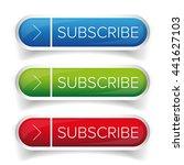 subscribe button vector set | Shutterstock .eps vector #441627103