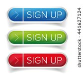 sign up button set | Shutterstock .eps vector #441627124