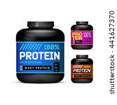 sport nutrition containers.... | Shutterstock .eps vector #441627370