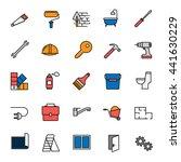 construction  repair tools. set ... | Shutterstock .eps vector #441630229
