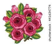 rose flower illustration | Shutterstock .eps vector #441634774