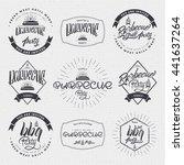 barbecue vector design elements ... | Shutterstock . vector #441637264